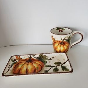 Set of Serving Plate and Mug NWT